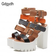 US $27.18 15% OFF|Gdgydh Women Sandals High Heels 2019 New Summer Fashion Buckle Female Gladiator Sandals Platform Shoes Woman Black Big Size 42-in High Heels from Shoes on Aliexpress.com | Alibaba Group