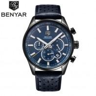 € 22.49 50% de réduction|BENYAR hommes montre Top marque de luxe montre à Quartz hommes Sport mode bleu analogique en cuir homme montre bracelet étanche horloge-in Montres à quartz from Montres on Aliexpress.com | Alibaba Group
