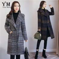 3264.35 руб. 30% СКИДКА|YuooMuoo Европейская мода клетчатое зимнее пальто женское теплое шерстяное пальто брендовый дизайн куртка средней длины женское кашемировое пальто верхняя одежда-in Шерсть и сочетания from Женская одежда on Aliexpress.com | Alibaba Group
