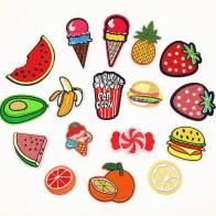 19.77 руб. |1 шт. фрукты Burger нашивки для одежда из железа на заплатка для одежды наклейки одежда вышивка нашивки значки купить на AliExpress