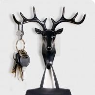 257.19 руб. 58% СКИДКА|Небольшой творческий рога Wall стойка для гостиной Hat/сумка/ключ/ювелирных изделий стойки трехмерная олень декор офиса Спальня крючок Может иметь царапины купить на AliExpress