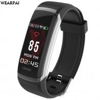 US $14.51 78% OFF|Wearpai GT101 الذكية معصمه اللون شاشة سوار ذكي النساء الرجال جهاز مراقبة اللياقة الرياضية مراقب معدل ضربات القلب للماء ip67-في الأساور الذكية من الأجهزة الإلكترونية الاستهلاكية على Aliexpress.com | مجموعة Alibaba