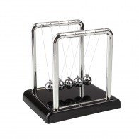 Physics Science Energy Conservation Laws Desk Toy Newtons Cradle Steel Balance Balls Plastic Holder Home Decor Table Decoration