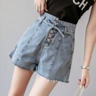 Джинсовые шорты для женщин, летние джинсы с высокой талией, короткие, новинка 2020, свободные широкие шорты для девушек, BF стиль, уличная мода, ... - Шорты и брюки и костюмы