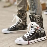 979.55 руб. 30% СКИДКА|Летняя легкая джинсовая парусиновая обувь; модные мужские дышащие высокие кроссовки с граффити на плоской подошве; Повседневная обувь; Zapatos De Hombre-in Мужская повседневная обувь from Туфли on Aliexpress.com | Alibaba Group