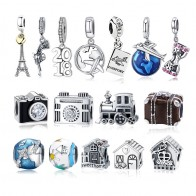 US $4.99 20% OFF|Dropshipping 925 Sterling Silver Eiffel Tower Pendant House Fit Original Pandora Charms Bracelet Beads for Women Jewelry Making-in Charms from Jewelry & Accessories on Aliexpress.com | Alibaba Group