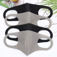 1 قطعة النسخة الكورية السوداء الإسفنج الفم قناع تنفس للجنسين الإسفنج قناع الوجه قابلة لإعادة الاستخدام مكافحة التلوث الوجه درع على AliExpress