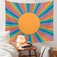 Красочный Солнечный настенный гобелен, подвесной домашний декор, весенние гобелены с цветами, украшение для комнаты, маленький размер - Гобелены с Алиэкспресс