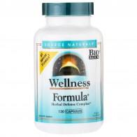 Source Naturals, Wellness Formula, растительный защитный комплекс, 120 капсул