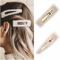 Женская заколка с жемчугом, элегантная Заколка-заколка в Корейском стиле, Шпилька для волос, аксессуары-заколки для волос, 2019