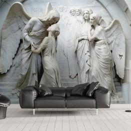 596.58 руб. 46% СКИДКА|Пользовательские 3D обои фрески классический Европейский ангел 3D тиснением нетканого обои настенная живопись Гостиная Спальня украшения-in Обои from Товары для дома on Aliexpress.com | Alibaba Group