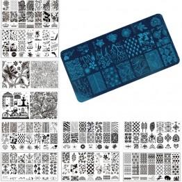 28.79 руб. 45% СКИДКА|1 шт. штамповка для ногтей штамповка пластины для изображения 6*12 см из нержавеющей стали маникюрный Шаблон трафарет Инструменты, 20 модель на выбор-in Шаблоны для дизайна ногтей from Красота и здоровье on Aliexpress.com | Alibaba Group