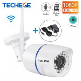 1634.7 руб. 50% СКИДКА|Techege 1080 P wifi ip камера HD 2.0MP аудио запись wifi камера ночного видения TF слот для карт Беспроводная Проводная камера видеонаблюдения P2P Onvif-in Камеры видеонаблюдения from Безопасность и защита on Aliexpress.com | Alibaba Group