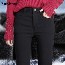 1153.79 руб. 35% СКИДКА|2017 зимние теплые джинсы женские с высокой талией яркие цвета обтягивающие узкие джинсовые брюки для женщин плюс sie 25 34 джинсы femme mujer-in Джинсы from Женская одежда on Aliexpress.com | Alibaba Group