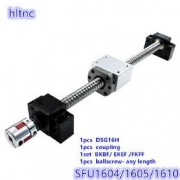 16 мм SFU1604 SFU1605 SFU1610 RM 1605 шариковый винт свернутый C7 с торцевой обработкой + DSG16H корпус + BKBF/EKEF/FKFF12 Опора + муфта