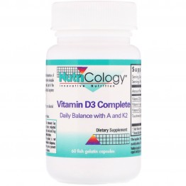 Nutricology, Vitamin D3 Complete, 60 Fish Gelatin Capsules