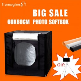 US $42.76 26% OFF|60*60*60CM  LED Photo Studio Light Tent Shooting Softbox Photography Light Box + Portable Bag + Dimmer Switch AC adapter -in Photo Studio Accessories from Consumer Electronics on Aliexpress.com | Alibaba Group