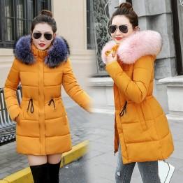 1571.26 руб. 20% СКИДКА|Зимняя куртка для женщин; большие размеры Новинка 2019 года Украина 3XL s подпушка хлопок утепленные куртки с капюшоном длинное пальт-in Парки from Женская одежда on Aliexpress.com | Alibaba Group