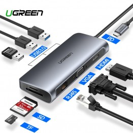 854.01 руб. 25% СКИДКА|Ugreen USB концентратор C концентратор для Мульти USB 3,0 HDMI адаптер док станция для MacBook Pro Аксессуары USB C Тип C 3,1 сплиттер 3 порта USB C концентратор-in USB-хабы from Компьютер и офис on Aliexpress.com | Alibaba Group