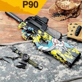 2376.45 руб.  P90 Graffiti Edition электрическое игрушечное ружье воды пуля всплески пистолет жить CS нападение Бекас оружие открытый Пистолеты игрушки купить на AliExpress