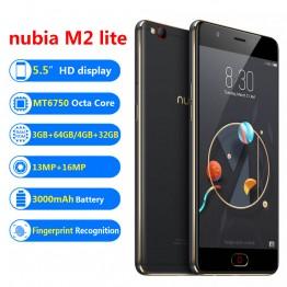 """6758.14 руб. 17% СКИДКА Zte Nubia M2 LITE мобильный телефон, 4 ГБ 4 ГБ 32 ГБ, MT6750, Восьмиядерный, Android M 5,5 """", 16.0MP, 3000 мАч купить на AliExpress"""