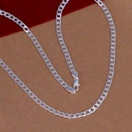 93.36 руб. 25% СКИДКА|Лучший подарок серебряные модные ожерелья для женщин 2015 4 мм 16 '' 30'' боковая бижутерия SMTN132-in Ожерелья-цепочки from Украшения и аксессуары on Aliexpress.com | Alibaba Group