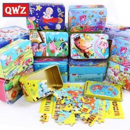 110.55 руб. 40% СКИДКА|QWZ Новый 24 стиля 60 шт./кор. мультфильм головоломка игрушки деревянные игрушки для детей железная коробка детская развивающая игрушка для детей рождественские подарки-in Пазлы from Игрушки и хобби on Aliexpress.com | Alibaba Group