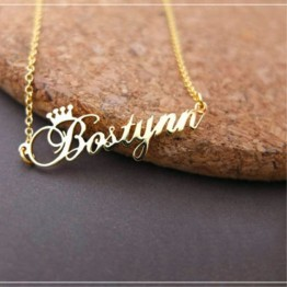 US $7.99 20% OFF|Custom Crown Name Necklace Personalized Jewelry Silver Rose Gold Stainless Steel Nameplate Choker Necklace Women Bridesmaid Gift-in Pendant Necklaces from Jewelry & Accessories on Aliexpress.com | Alibaba Group
