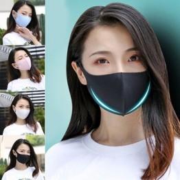 1 шт. черная Корейская версия женская и мужская маска для рта из ледяного шелка дышащая маска для лица многоразовая защита от загрязнения ли...
