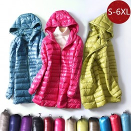 US $24.78 53% OFF|S~6XL Autumn Winter Women White Duck Down Jacket Slim Parkas Ladies Coat Long Hooded Plus Size Ultra Light Down Outerwear RH1056-in Down Coats from Women's Clothing on Aliexpress.com | Alibaba Group