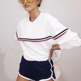 Bazaleas 2017 белый Свободные BF Женская мода толстовка универсальные Толстовка Круглая горловина женский Толстовки купить на AliExpress