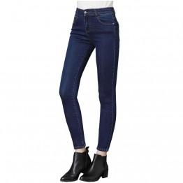 1010.47 руб. 25% СКИДКА|Женские повседневные брюки 2019, обтягивающие эластичные длинные брюки на молнии с высокой талией, повседневные модные женские джинсы карандаш-in Джинсы from Женская одежда on Aliexpress.com | Alibaba Group