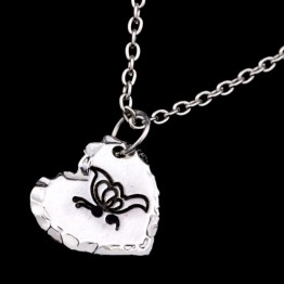 US $1.3 |2016 Newest Butterfly Pendant Necklace Silver plated Semicolon Necklace Heart pendant Jewelry for women YLQ0096-in Chain Necklaces from Jewelry & Accessories on Aliexpress.com | Alibaba Group