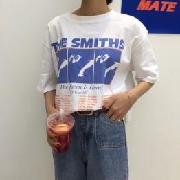 € 7.42 |Camiseta femenina de manga corta básica nueva moda 2018 holgada de algodón blanco informal estampado con letras Vintage-in Camisetas from Ropa de mujer on Aliexpress.com | Alibaba Group