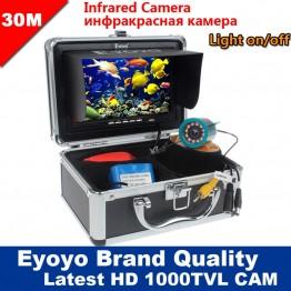 6185.11 руб. 36% СКИДКА Eyoyo оригинал 30м 1000TVL  камера рыбоискатель подводная рыбалка видеокамера 7
