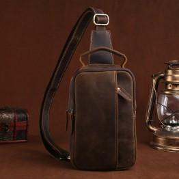 1849.36 руб. 33% СКИДКА 100% натуральная Crazy Horse кожаная мужская сумка на лямках на груди, Повседневная винтажная сумка через плечо из воловьей кожи on Aliexpress.com   Alibaba Group