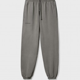 Recycled cotton track pants—grey