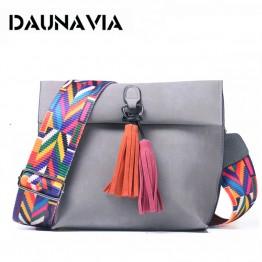 US $18.98 |DAUNAVIA Brand Women Messenger Bag Crossbody Bag tassel Shoulder Bags Female Designer Handbags Women bags with colorful strap-in Top-Handle Bags from Luggage & Bags on Aliexpress.com | Alibaba Group