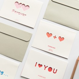 US $0.71 29% OFF|1pc Creative Hollow love word heart greeting card Wedding thanks birthday card paper Wedding Party supplies-in Cards & Invitations from Home & Garden on Aliexpress.com | Alibaba Group
