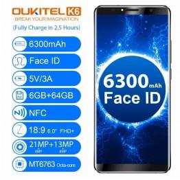 15120.24 руб. |OUKITEL K6 лицо разблокированный мобильный телефон 6,0