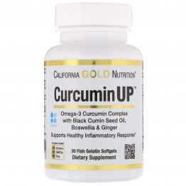 California Gold Nutrition, CurcuminUP, Omega-3 Curcumin Complex, Inflammation Support, 30 Softgels