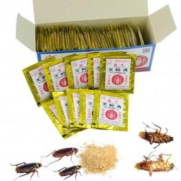 10 шт. сильный и эффективный уничтожение тараканов Таракан Приманка 3 г порошка безвреден для человеческого тела, будьте уверены в использовании купить на AliExpress