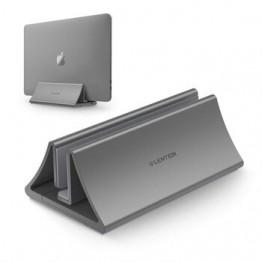Алюминий обеспечивает экономию места • Вертикальная настольная подставка для MacBook Air/Pro 16 13 15, iPad Pro 12,9, Chromebook и от 11 до 17 дюймов рюкзак для ноу...