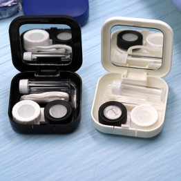 Цветной пластиковый футляр для контактных линз, дорожный набор, легкий держатель для контейнеров