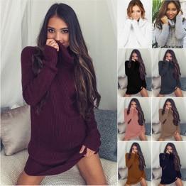 2018 primavera otoño suéter mujeres largo vestido elástico Skinny manga larga Vestidos de punto Jersey Mujer Pull Femme Hiver en Pullovers de Moda y complementos de mujer en AliExpress.com | Alibaba Group