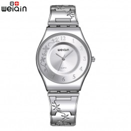 US $27.41 |WEIQIN Fashion Silver Women Watches 2018 High Quality Ultra thin Quartz Watch Woman Elegant Dress Ladies Watch Montre Femme-in Women's Watches from Watches on Aliexpress.com | Alibaba Group