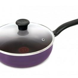 Сотейник TEFAL Cook Right 04166224, 2.5л, с крышкой, фиолетовый