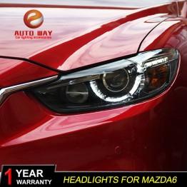 35461.78 руб. 13% СКИДКА Автомобильный Стайлинг для Mazda Atenza Mazda6 фары Mazda 6 M6 2013 2016 светодиодный фары DRL Объектив двойной луч HID ксеноновые автомобильные аксессуары-in Аксессуары для автомобильного освещения from Автомобили и мотоциклы on Aliexpress.com   Alibaba Group