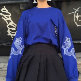 US $16.0 | Poleron Mujer 2018 New Moletom Korean Style Harajuku Sweatshirts Dragon Embroidery Long Sleeve Sweatshirt Hoodie Women Hoodies-in Hoodies & Sweatshirts from Women's Clothing on Aliexpress.com | Alibaba Group