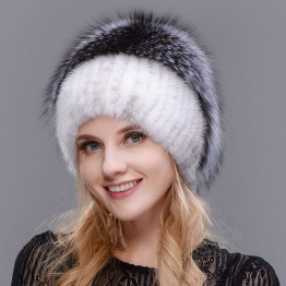 US $73.2 |HUASHGJ 2018 Winter Hot Women's Natural Mink Hat Fashion Elegant Warm Knit Hat Fox Top Real Fur High Quality Cap-in Skullies & Beanies from Apparel Accessories on Aliexpress.com | Alibaba Group